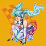 Racing Miku commission sample by Okami-Kiera