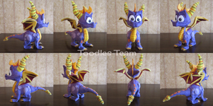 Spyrofoam Spyro the Dragon 360 View by ToodlesTeam