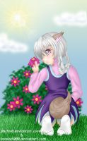 Picking Flowers by hushaby-monster