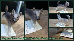 Hagen-renaker INC Walking Husky Figure by Vesperwolfy87