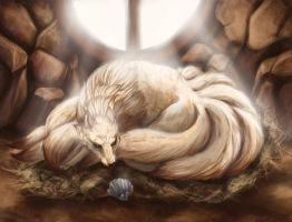 Ninetales and Shellder by Leashe