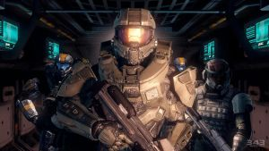 Halo 4 | Master Chief With Soldiers by Goyo-Noble-141