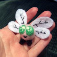 Needle felted Parasprite by SnowFox102