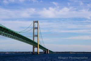 Mighty Mackinac Bridge by justarus