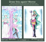 Meme BEFORE + AFTER by Toto-the-cat
