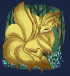 Ninetails in the forest by milesboard