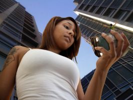 Giantess Genarika in the city by lowerrider