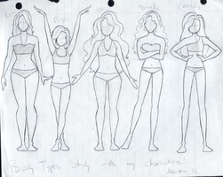 Body types study with Heart Up In Knots girls by crazysneakygurl23