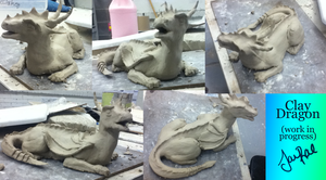 Clay Dragon -WIP- by TheMoonfall
