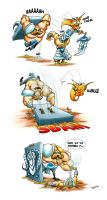 Lol140 - Braum VS Gnar by tosca-camaieu