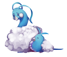 Swablu and Altaria by SolarByte