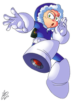 Rockman 25th - Iceman by Ian-the-Hedgehog