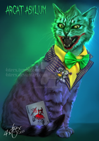 Arcat Asylum- The Joker Cat by 4steex