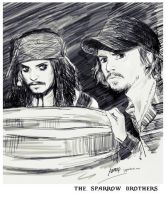 2013-9-6 the Sparrow Brothers by amoykid