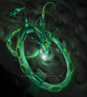 Rayquaza by darkmagic1an