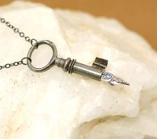 Antique Skeleton Key Pen Victorian Style by byrdldy