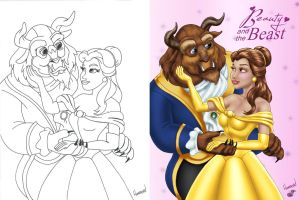 Beauty and the Beast - Colors - Side by Side by TracyWong