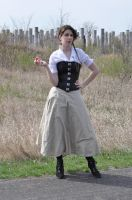 Steampunk Beauty with Apple Stock II by kndrwllmsn