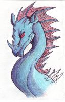 Red Fringed Ceros Dragon by LinmirianJoyrex