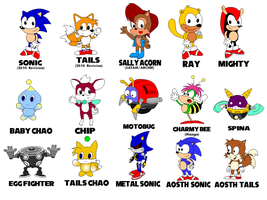 Sonic Characters Page 3 by Cuddlesnowy