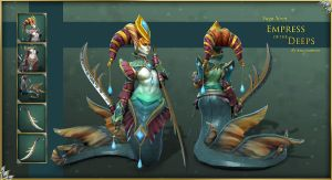 Dota2 - Naga Siren Empress of the Deeps Final by Anuxinamoon
