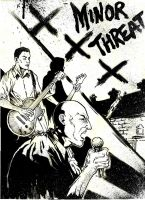 Minor Threat - A3 ink by IgorChakal