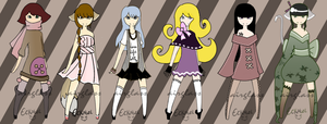Adoptables Batch Set of 6 [CLOSED] by JeanaWei