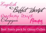 Best Fonts Pack by ginnycullen