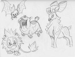 Dream Eater Sketches by LynxGriffin