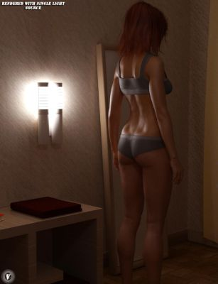 Lighting up the Back (Skin Shader Promo) by EcVh0