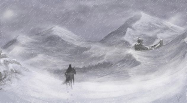 Cold landscape - draw it again by Ascaina