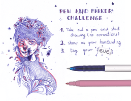 pen and marker challenge by Nexivi