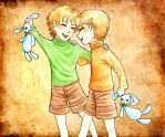 Weasley Twins by Clef-en-Or