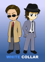 White Collar Chibis 2 by dyzzispell