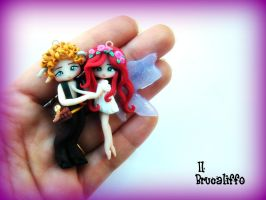 Faun and Fairy Falling in love by BrucaliffoBijoux