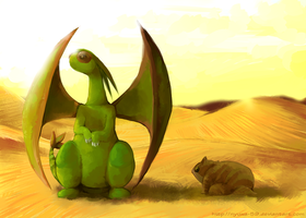 In the desert by Nyuwa-59