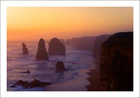 Apostles at Sunset by Cameron-Jung
