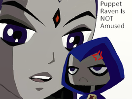 Puppet Raven is NOT Amused by Okhorse21