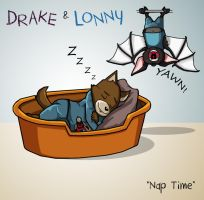 Drake and Lonny's Nap Time by shubcthulhu