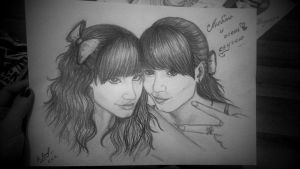 I and my best friend Leila by SunriseRain