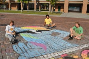 Rainbow Dash Chalk Drawing. by Neptali54
