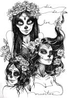 Sugar Skulls by khaedin