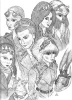 The Farscape Crew Steampunk'd Revised. by CALIB454