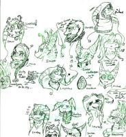 Fritter Critter Profiles by FuneralDyingheart