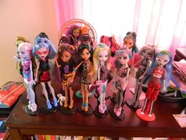 All of her dolls minus four by WingedRivers