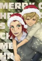 Merry Christmas AkuRoku by RAINBOW-HOMO-KIRA