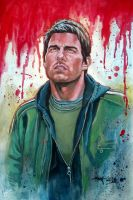 Tom Cruise - Designer gouache by aaronwty
