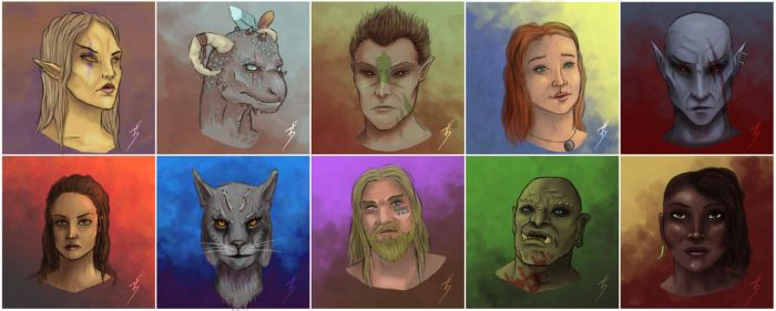 Races of Tamriel by TobyFoxArt
