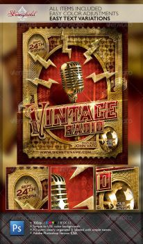 Vintage Jazz Music Event Flyer Template by STRONGHOLDSTUDIOS