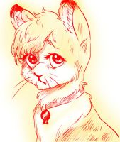Sad Cat-like-thing by solray-chan